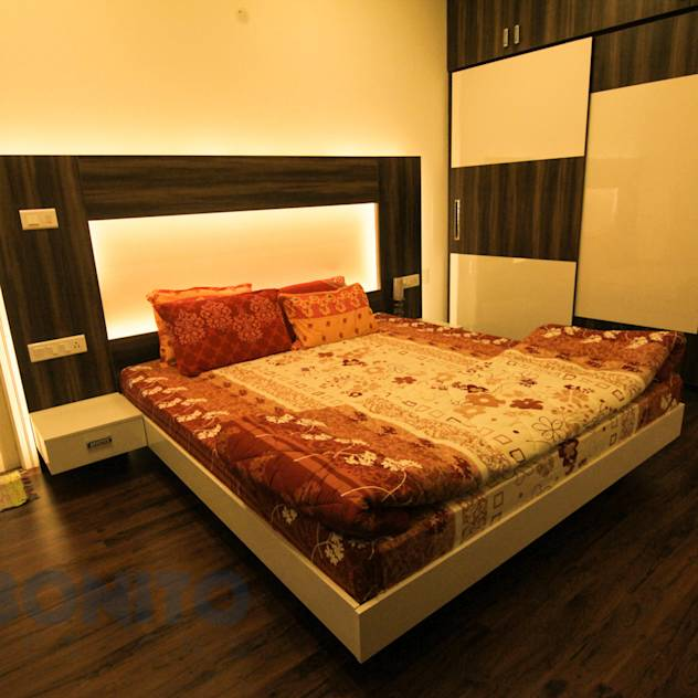 Master bedroom entire theme : Asian style bedroom by Bonito Designs Bangalore