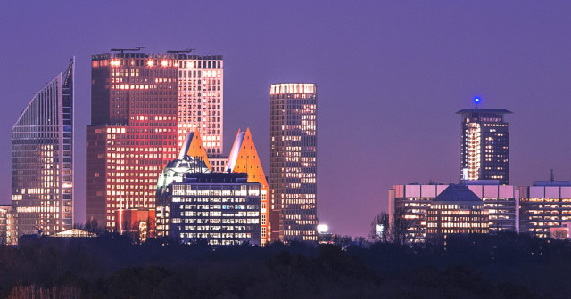 The Skyline of The Hague is wonderful at night. Who wouldn't want to live there?