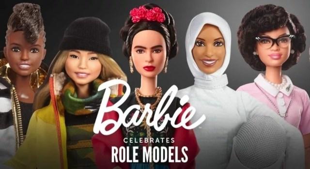 From left to right: Nicola Adams OBE, Chloe Kim, Frida Khalo, Ibtihaj Muhammad, Katherine Johnson