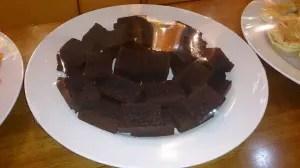 hi-tea for housewarming chocolate cake