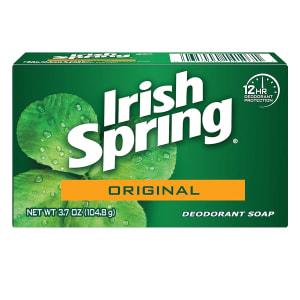Irish Spring Original Deodorant Bar Soap, 3.7 Ounce