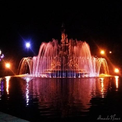 Taman Kota Negara Jembrana Malam Hari