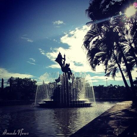 Taman Kota Negara Jembrana Siang Hari