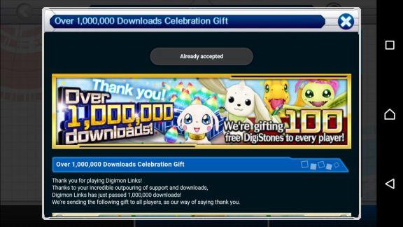 DigimonLinks Event Gratis 100 DigiStones