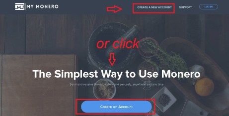mymonero Create A New Account