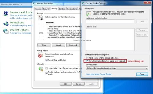 nonaktifkan web push notification di internet explorer