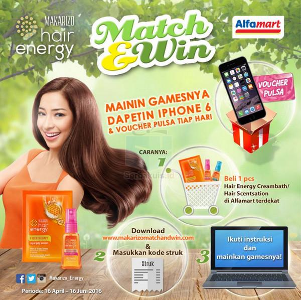 Main Game Match & Win Berhadiah iPhone 6 dan Voucher Pulsa Tiap hari