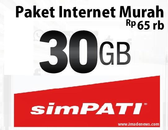 Paket Internet Murah Telkomsel 30GB hanya dengan 65 Ribu