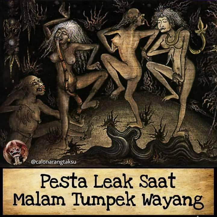 Malam Kala Paksa, Leak di Malam Tumpek Wayang