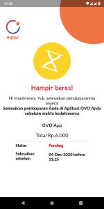 Bayar kartu mpwr melalui aplikasi OVO