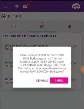 Trik axisnet Gigahunt 2017