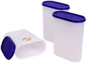 Tallboy Mahaware Space Saver Container 1200 Ml Set Of 3