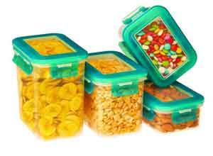 Ruchi New Premium Super Lock & Seal Container Set, 4-Pieces, Blue At Rs.350