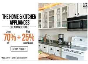 Extra 25% Cashback on Kitchen Appliances
