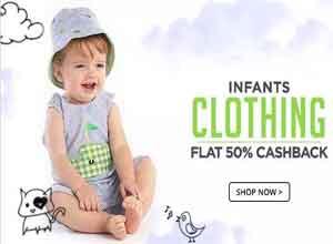 Kids Clothing Flat 50% Cashback From Paytm