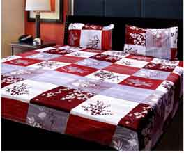 BSD Trendz Printed Poly Cotton Double Bedsheet With 2 Pillow Cover