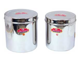 Aristo Silver Storage Container Set of 2