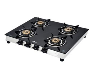 Four Burner Toughened Glass Gas Stove