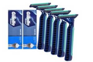 Gillette Series Shave Gel 1 piece + RAZOR Big Beni 5 pc