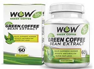 Wow Green Coffee Weight Management Supplement Capsules