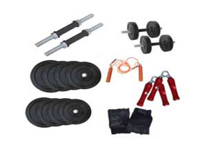 Health Fit India 10kg Dumbbell Rods Home Gym Set