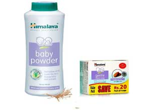 Himalaya Baby Powder400 g with Soap Value Pack 75 g Pack of 4