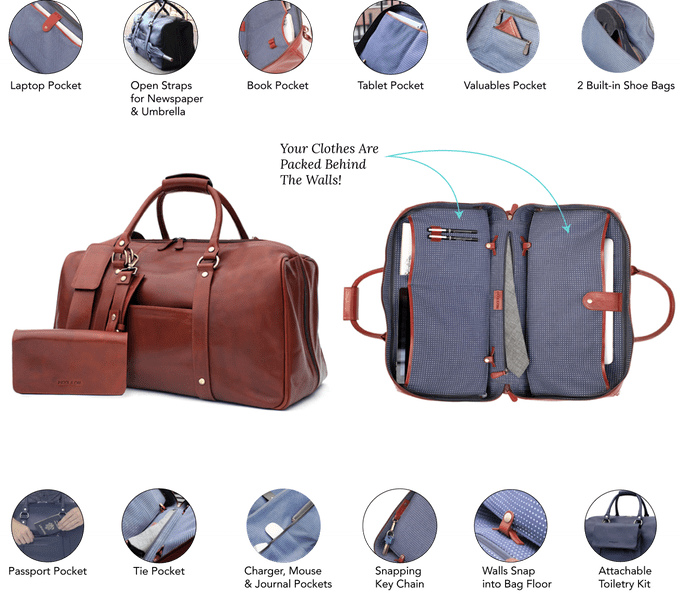 Removable partitions inside and several compartments