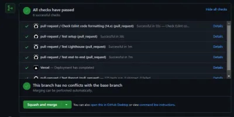 An example of automated checks on a Github Pull Request