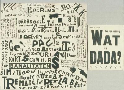 Dada print by Theo van Doesburg
