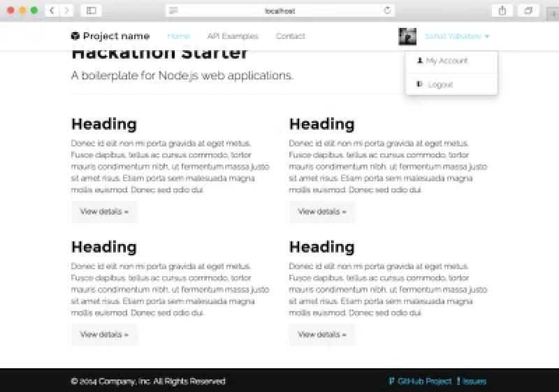 Un kickstarter pour les applications Node.js