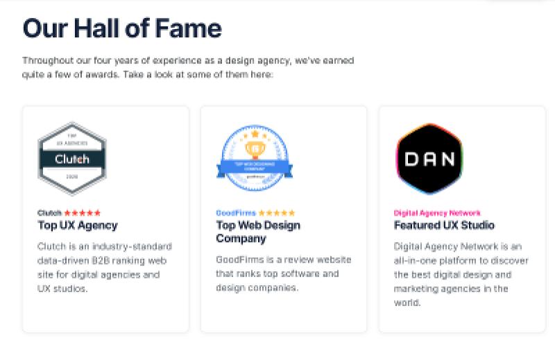 exemples de différents badges