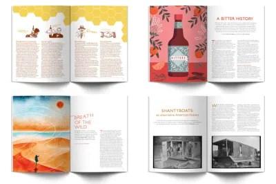 Ernest Journal magazine spreads