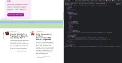 Une capture d'écran de la console Chrome DevTools montrant quels éléments cause CLS.