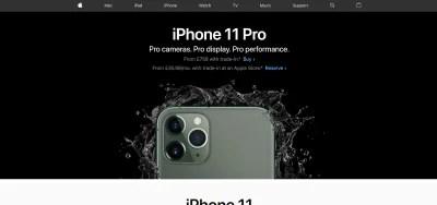 Apple website homepage