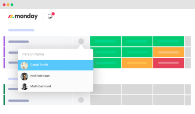 Assign teammates to particular tasks or projects.