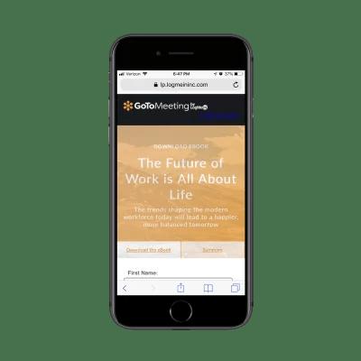 GoToMeeting engaging header design