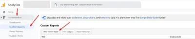 Rapports personnalisés Google Analytics - Comment accéder aux rapports personnalisés