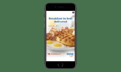 DoorDash deceptive mobile ad