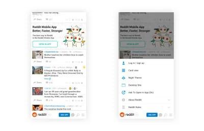 The <a href='https://www.reddit.com/'>Reddit website</a> with a reimagined bottom navigation