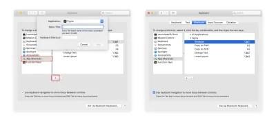Exemple de raccourci clavier personnalisé pour un plugin Figma.