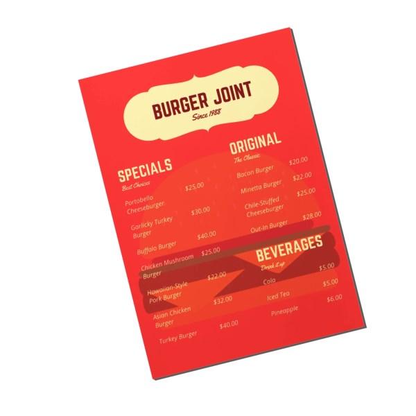 menu card design 2