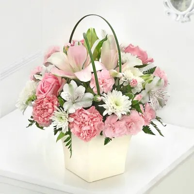 Birthday Flowers Online   Send Exotic Flowers for Birthday in India Pink Exquisite Arrangement