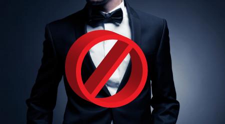 no suits at this wedding