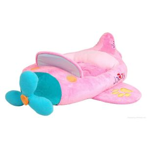 Both Character Airplane Pilot Pet Bed - Pink