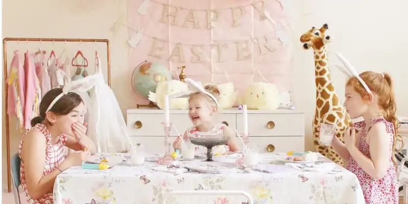 easter party inspiration with pottery