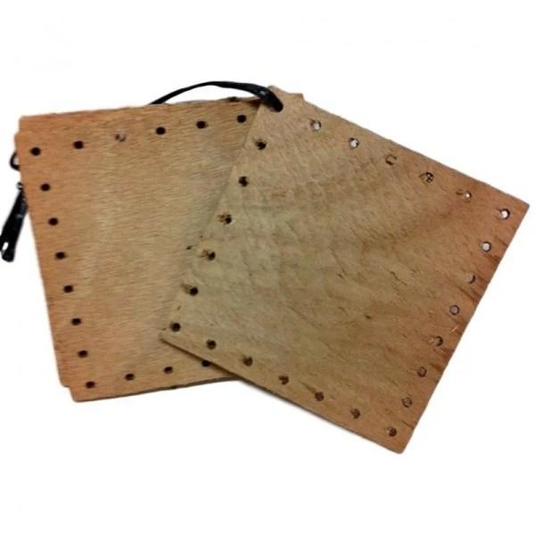 Fond de paniers carré en bois 11x11 cm