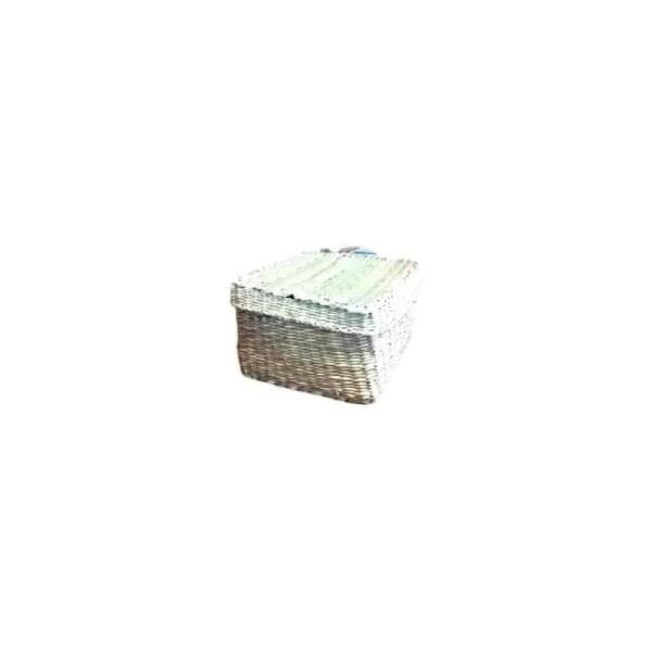 Mini coffret carré en jonc 10cm