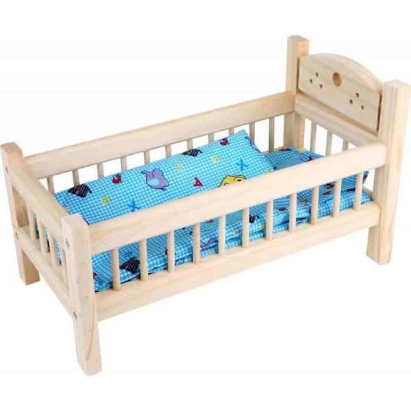 lit de poupee en bois