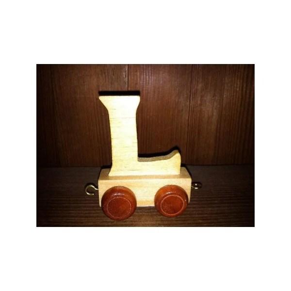 Lettre L du train, en bois