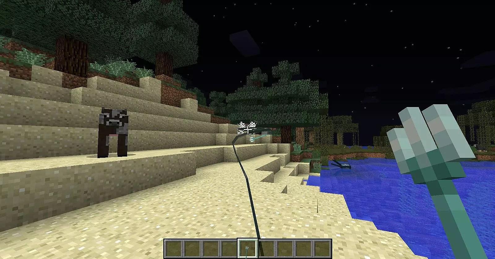 Trident Minecraft Recipe Banner